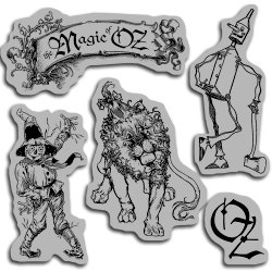 Graphic 45 - Hampton Art - The Magic of Oz Collection - Cling Mounted Rubber Stamps - Magic One