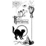Graphic 45 - Hampton Art - Happy Haunting Collection - Halloween - Cling Mounted Rubber Stamps - Happy Haunting One