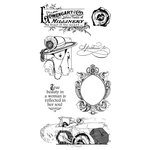 Graphic 45 - Hampton Art - Ladies' Diary Collection - Cling Mounted Rubber Stamps - Ladies Diary Three