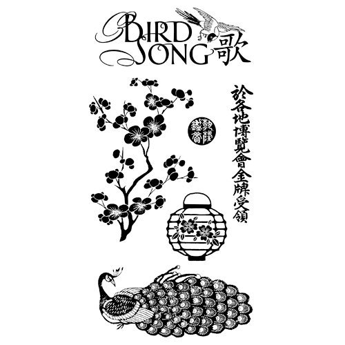 Graphic 45 - Hampton Art - Bird Song Collection - Cling Mounted Rubber Stamps - Bird Song One