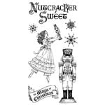Graphic 45 - Hampton Art - Nutcracker Sweet Collection - Christmas - Cling Mounted Rubber Stamps - Holiday One