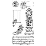 Graphic 45 - Hampton Art - Nutcracker Sweet Collection - Christmas - Cling Mounted Rubber Stamps - Holiday Three