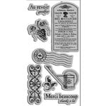 Graphic 45 - Hampton Art - French Country Collection - Cling Mounted Rubber Stamps - French Country Two