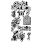Graphic 45 - Hampton Art - Secret Garden Collection - Cling Mounted Rubber Stamps - Secret Garden One