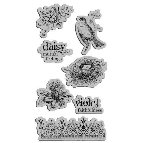 Graphic 45 - Hampton Art - Secret Garden Collection - Cling Mounted Rubber Stamps - Secret Garden Three
