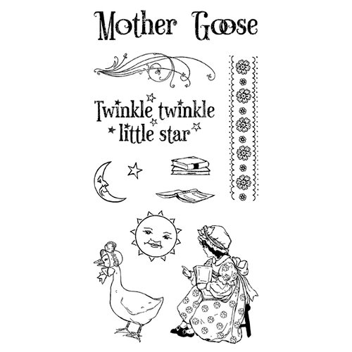 Graphic 45 - Hampton Art - Mother Goose Collection - Cling Mounted Rubber Stamp One