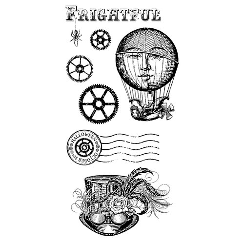 Graphic 45 - Hampton Art - Steampunk Spells Collection - Cling Mounted Rubber Stamps - Steampunk Spells Two