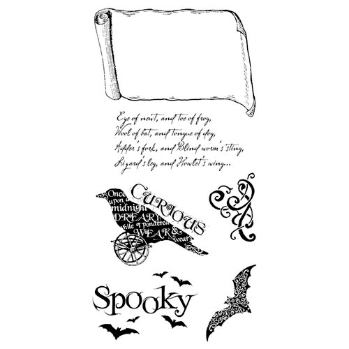 Graphic 45 Hampton Art Steampunk Spells Collection Cling Mounted Rubber Stamps Steampunk Spells Three