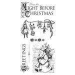 Graphic 45 - Hampton Art - Twas the Night Before Christmas Collection - Cling Mounted Rubber Stamps - One