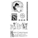 Graphic 45 - Hampton Art - Twas the Night Before Christmas Collection - Cling Mounted Rubber Stamps - Two