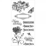 Graphic 45 - Hampton Art - Time to Flourish Collection - Cling Mounted Rubber Stamps - One