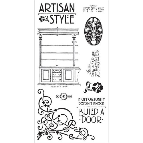 Graphic 45 - Hampton Art - Artisan Style Collection - Cling Mounted Rubber Stamps - One