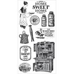 Graphic 45 - Hampton Art - Home Sweet Home Collection - Cling Mounted Rubber Stamps - One