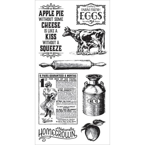 Graphic 45 - Hampton Art - Home Sweet Home Collection - Cling Mounted Rubber Stamps - Two
