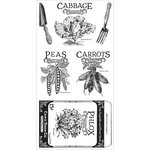 Graphic 45 - Hampton Art - Home Sweet Home Collection - Cling Mounted Rubber Stamps - Three