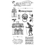 Graphic 45 - Hampton Art - Christmas Carol Collection - Cling Mounted Rubber Stamps - One