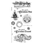Graphic 45 - Hampton Art - Christmas Carol Collection - Cling Mounted Rubber Stamps - Two