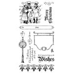 Graphic 45 - Hampton Art - Christmas Carol Collection - Cling Mounted Rubber Stamps - Three