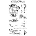 Graphic 45 - Hampton Art - Mon Amour Collection - Cling Mounted Rubber Stamps - One