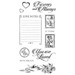 Graphic 45 - Hampton Art - Mon Amour Collection - Cling Mounted Rubber Stamps - Two