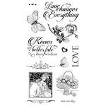 Graphic 45 - Hampton Art - Mon Amour Collection - Cling Mounted Rubber Stamps - Three