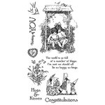 Graphic 45 - Hampton Art - Childrens Hour Collection - Cling Mounted Rubber Stamps - One