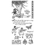 Graphic 45 - Hampton Art - Childrens Hour Collection - Cling Mounted Rubber Stamps - Two