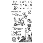 Graphic 45 - Hampton Art - Childrens Hour Collection - Cling Mounted Rubber Stamps - Three
