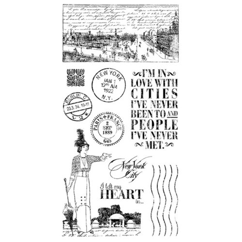 Graphic 45 - Hampton Art - Cityscapes Collection - Cling Mounted Rubber Stamps - One