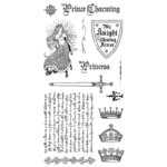 Graphic 45 - Hampton Art - Enchanted Forest Collection - Cling Mounted Rubber Stamps - Two