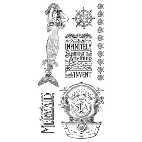 Graphic 45 - Hampton Art - Voyage Beneath the Sea Collection - Cling Mounted Rubber Stamps - One