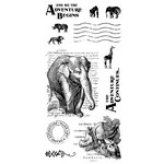 Graphic 45 - Hampton Art - Safari Adventure Collection - Cling Mounted Rubber Stamps - One