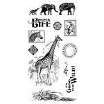 Graphic 45 - Hampton Art - Safari Adventure Collection - Cling Mounted Rubber Stamps - Two