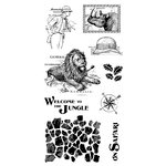 Graphic 45 - Hampton Art - Safari Adventure Collection - Cling Mounted Rubber Stamps - Three