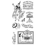 Graphic 45 - Hampton Art - Cafe Parisian Collection - Cling Mounted Rubber Stamps - One