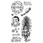Graphic 45 - Hampton Art - St Nicholas Collection - Christmas - Cling Mounted Rubber Stamps - One