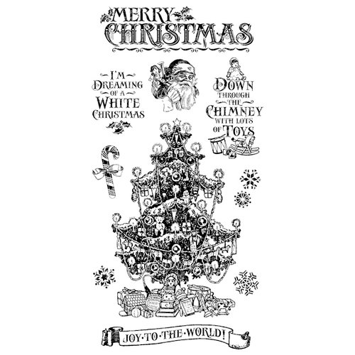 Graphic 45 - Hampton Art - St Nicholas Collection - Christmas - Cling Mounted Rubber Stamps - Two