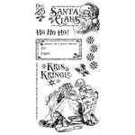 Graphic 45 - Hampton Art - St Nicholas Collection - Christmas - Cling Mounted Rubber Stamps - Three