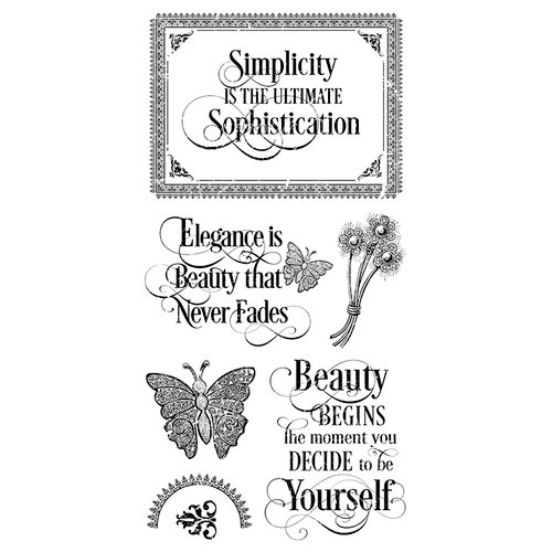 Graphic 45 - Hampton Art - Portrait of a Lady Collection - Cling Mounted Rubber Stamps - One