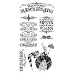 Graphic 45 - Hampton Art - Midnight Masquerade Collection - Cling Mounted Rubber Stamps - One