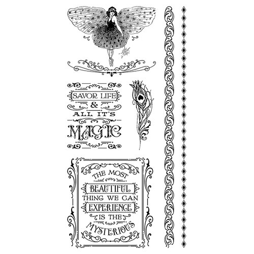 Graphic 45 - Hampton Art - Midnight Masquerade Collection - Cling Mounted Rubber Stamps - Three