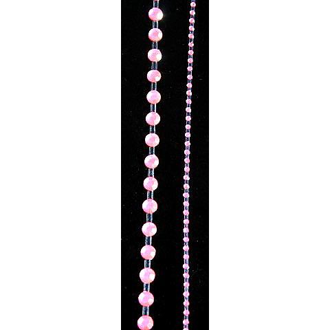 "Glitz Design - Frosting Collection - Self-Adhesive Rhinestones - 12"" Round Strips - Pink"