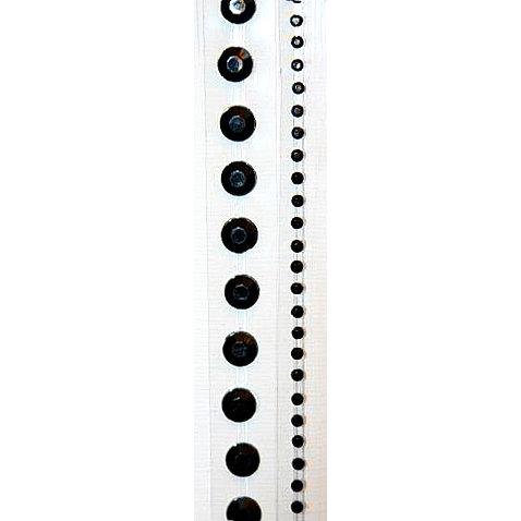 "Glitz Design - Frosting Collection - Self-Adhesive Rhinestones - 12"" Round Strips - Black"