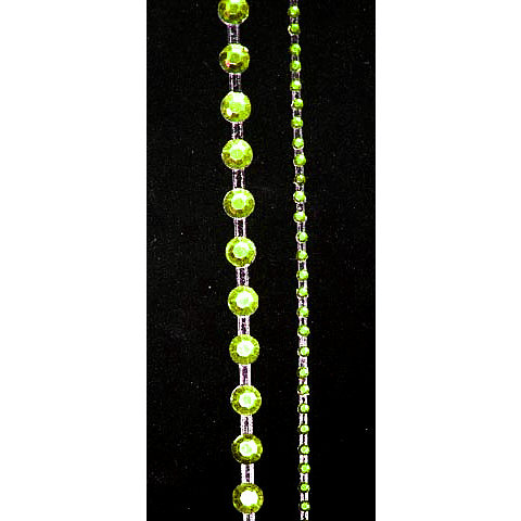 "Glitz Design - Frosting Collection - Self-Adhesive Rhinestones - 12"""" Round Strips - Lime Green, CLEARANCE"
