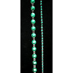 "Glitz Design - Frosting Collection - Self-Adhesive Rhinestones - 12"" Round Strips - Green, CLEARANCE"