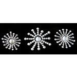 Glitz Design - Frosting Collection - Self-Adhesive Rhinestones - Frosting Sunbursts