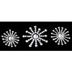 Glitz Design - Frosting Collection - Self-Adhesive Rhinestones - Frosting Sunbursts