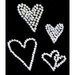 Glitz Design - Frosting Collection - Self-Adhesive Rhinestones - Frosting Hearts