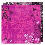 Glitz Design - Audrey Collection - 12 x 12 Double Sided Paper - Audrey Flourish, BRAND NEW