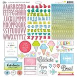 Glitz Design - Brightside Collection - 12 x 12 Cardstock Stickers - Alphabets and Accents